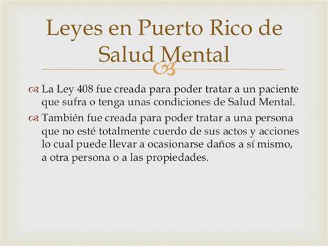 ley 408 de conclusion salud mental power point 1