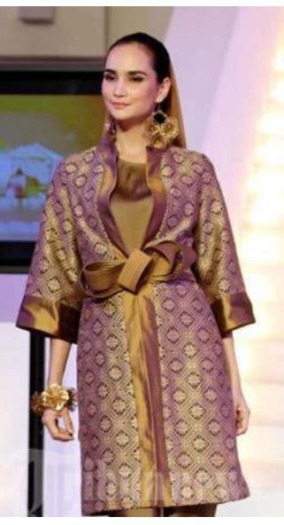 Kemeja Songket Palembang 4 model baju modern dari kain songket