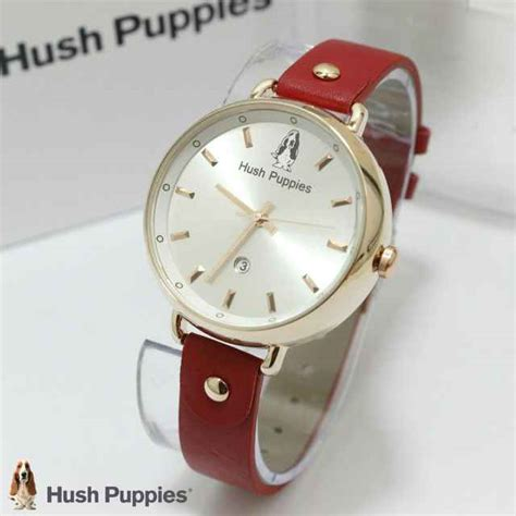 Jam Tangan Hush Puppies Silver Kulit Hp764 jual jam tangan hush puppies hp 3802 tali kulit ring gold