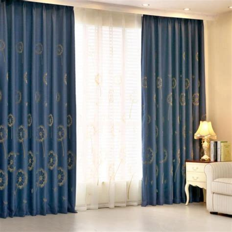 navy blue cotton curtains navy blue botanical jacquard linen cotton blend country