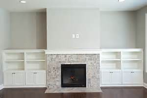 fireplace built ins cobblestone open floor plan white cabinet built ins gas fireplace ridge creek custom homes