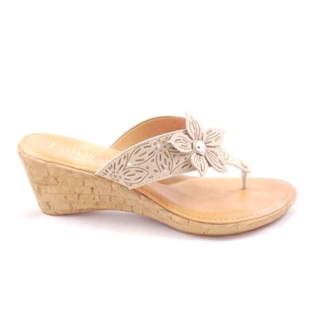 beige wedge sandal lotus beige toe post wedge sandal lotus from