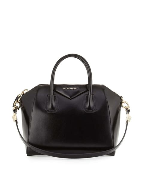givenchy antigona small leather satchel bag in black lyst