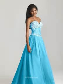 blue tulle beaded sweetheart strapless ball gown floor