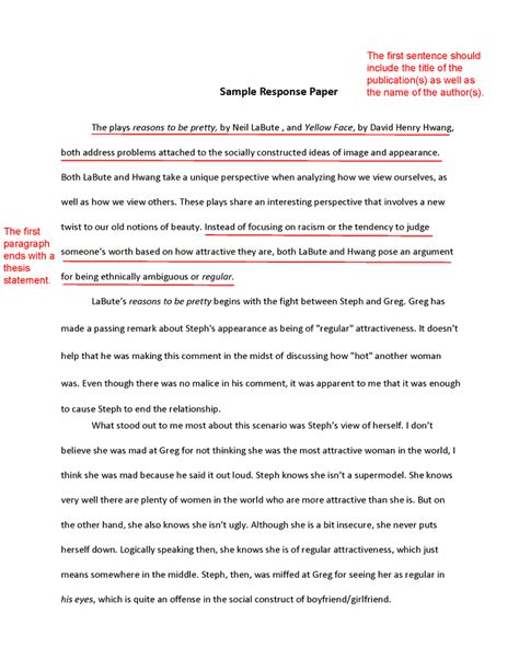 Guidelines In A Reaction Paper - how to write a response paper