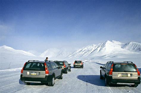 review  volvo xc  cross country wagon  snowy alaska