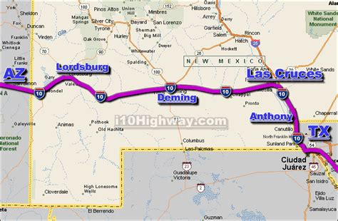 map of i 10 texas i 10 new mexico traffic map