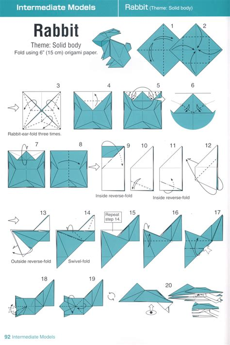 Paper Folding Rabbit - 동영상 종이접기 paperland kr 토끼 종이접기 그림