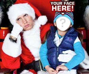eminem christmas get your signed picture with shady claus aka eminem