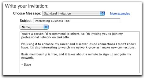 Invitation Letter Linkedin How Do I Invite Someone To Join My Linkedin Network Ask Dave