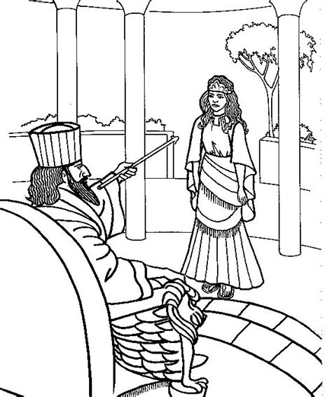 printable coloring pages of queen esther free coloring pages of bible stories esther