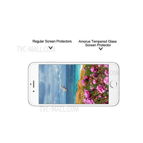 Tempered Glass Iphone 8g 4 7 5d Color Cover amorus for iphone 7 tempered glass screen protector guard