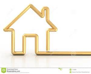 home design gold free gold house royalty free stock photos image 11732938