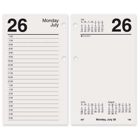 At A Glance Desk Calendar Refill by At A Glance E717 50 10 Desk Calendar Refill Aage7175010