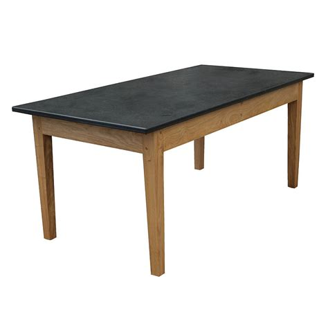 handmade green oak slate top garden table by slate top
