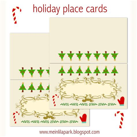 holiday place free printable holiday place cards ausdruckbare
