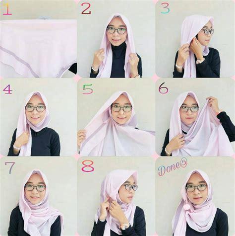 tutorial hijab simple kacamata kumpulan tutorial hijab kekinian paling simple dan praktis