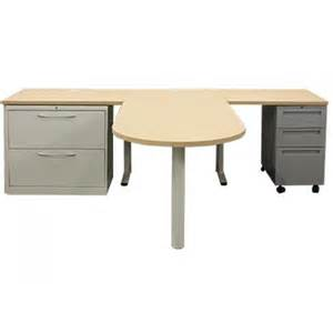 chicago hon maple veneer t shaped desk rh office - T Shaped Desk