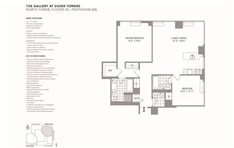 silver towers floor plans deluxe 2br at silver towers
