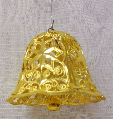 vintage rare germany gold tone bell christmas tree
