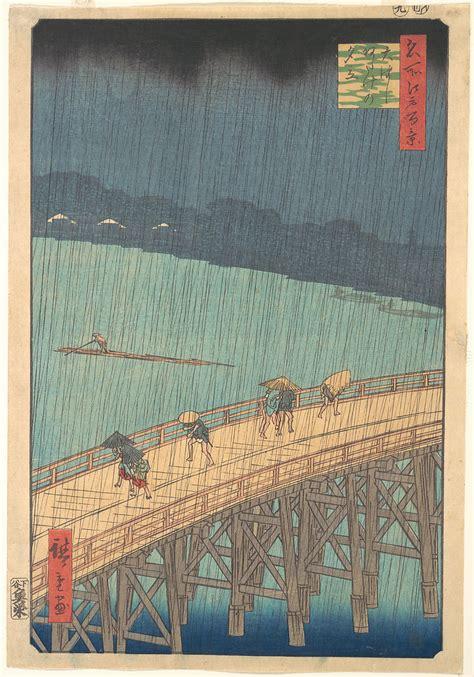 utagawa hiroshige sudden shower  shin ohashi bridge
