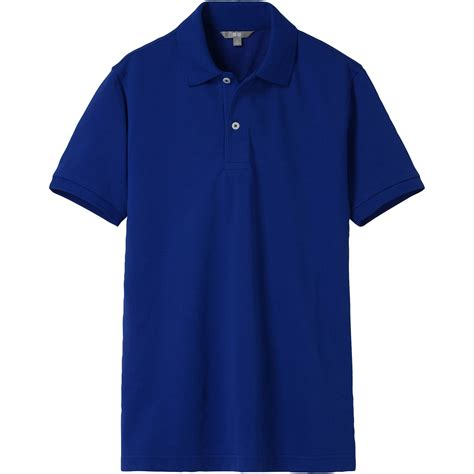 Uniqlo Pique Polo Shirt 2 uniqlo pique sleeve polo shirt in blue for lyst