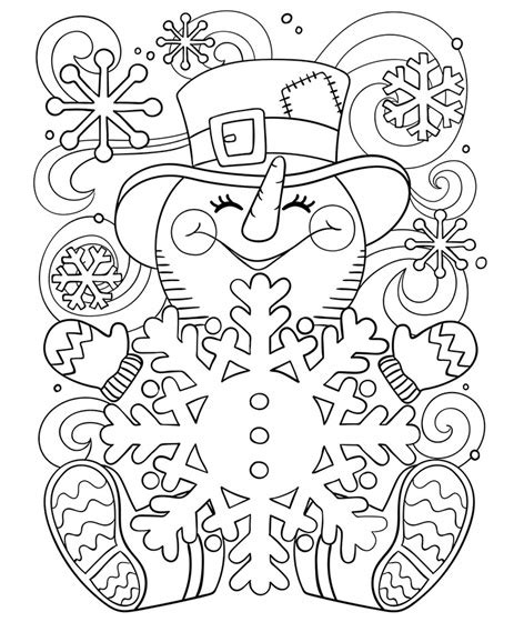 crayola coloring page ornament happy little snowman coloring page crayola com