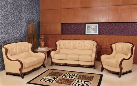 Classic Genuine Italian Leather 3 Pc Living Room Set Italian Living Room Furniture Sets