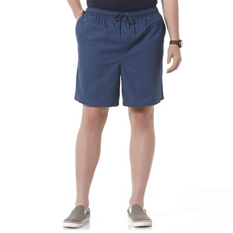 mens comfort waist shorts basic editions men s big tall comfort waist shorts