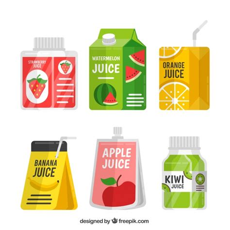paper boat drinks gift pack pack of containers with fruit juice vector free download