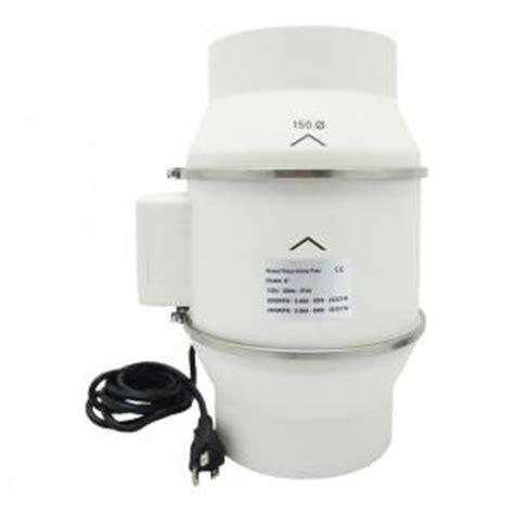 inline bathroom exhaust fan reviews viagrow 6 in 303 cfm ceiling or wall inline bathroom