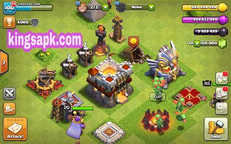 coc mod game download coc clash of lights mod apk v9 256 4 unlimited gems