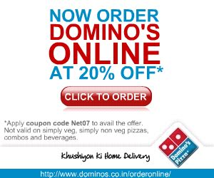 dominos coupon codes 20 percent off