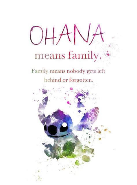 lilo and stitch quote art print illustration 3rd edition