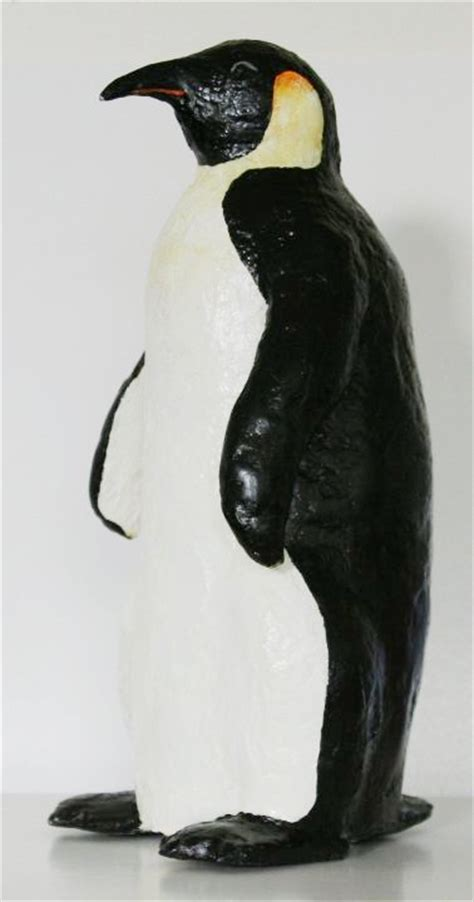 How To Make A Paper Mache Penguin - jan dalton work in progress portraits