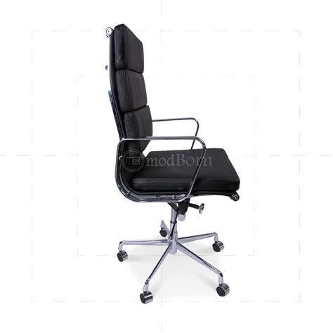 ea219 eames style office chair high back soft pad black