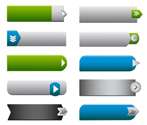 imagenes web site flat web buttons elements free vector 4vector