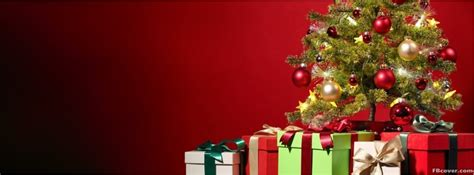 christmas tree  presents facebook cover photo fbcovercom