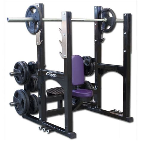 gold s gym pro series weight bench pro series olympic shoulder bench w band pegs legend