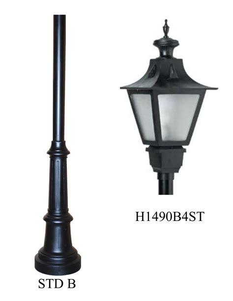 cast aluminum light post post light led cast aluminum std b