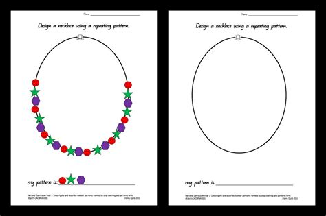 pattern necklace worksheet the necklace worksheets worksheets for all download and