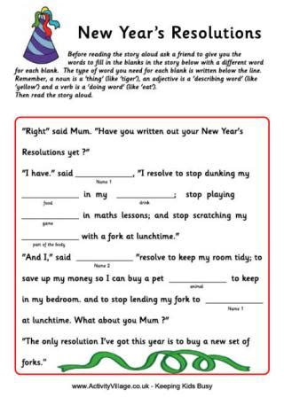 new year activities printable new year words printable worksheet for