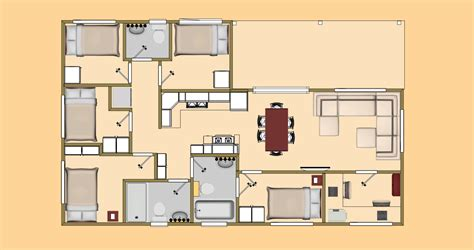 shipping container home floor plan big 5 13