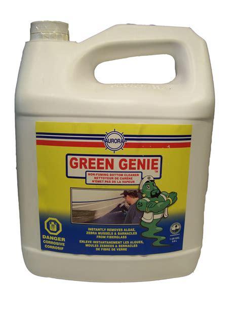 green boat cleaner aurora green genie non fuming bottom cleaner 1 gallon