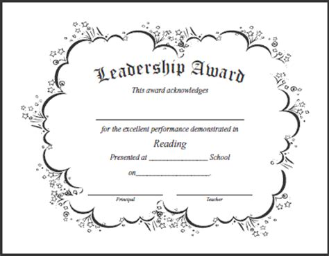 Leadership Quotes For Awards Quotesgram Leadership Certificate Template Free