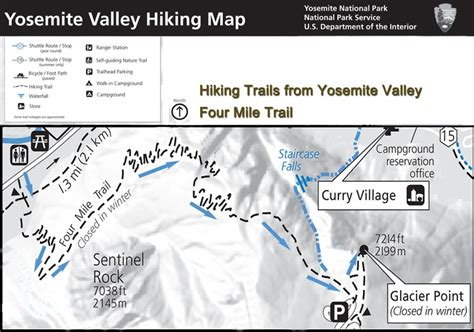 yosemite trail map 17 best images about yosemite valley hiking maps on
