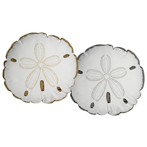 Sand Dollar Pillows sand dollar shaped indoor outdoor pillow