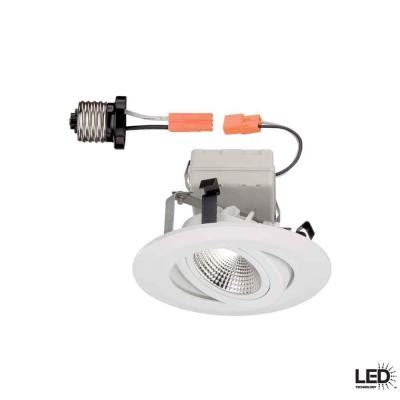 Home Depot Led Recessed Lights by Commercial Electric 4 In White Led Recessed Gimbal Trim Cer4742wh The Home Depot