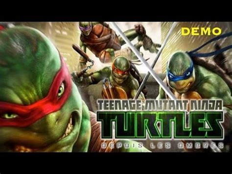 (demo découverte)teenage mutant ninja turtles depuis les
