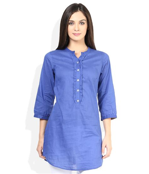Diba Tunic 3 N1 fabindia blue solid tunic available at snapdeal for rs 276